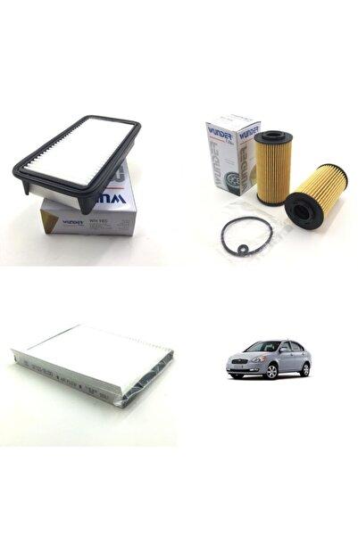 WUNDER Hyundai Accent Era 1.5 Crdi (2006 - 2012) Filtre Bakım Seti
