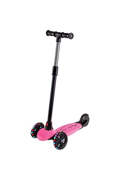 Furkan Toys Dragon Pembe Led Işıklı Scooter
