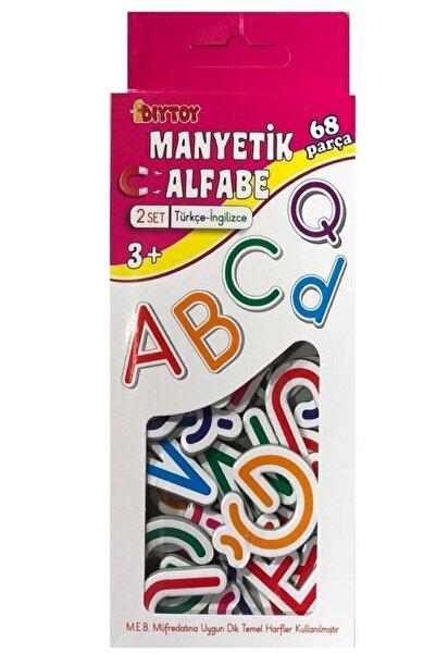 DIYTOY Manyetik Alfabe Türkçe-İngilizce