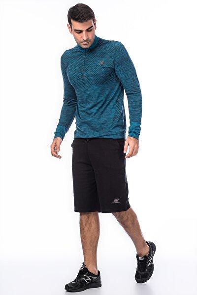 New Balance Erkek Siyah Şort Vom Shorts  V MTS005 BK