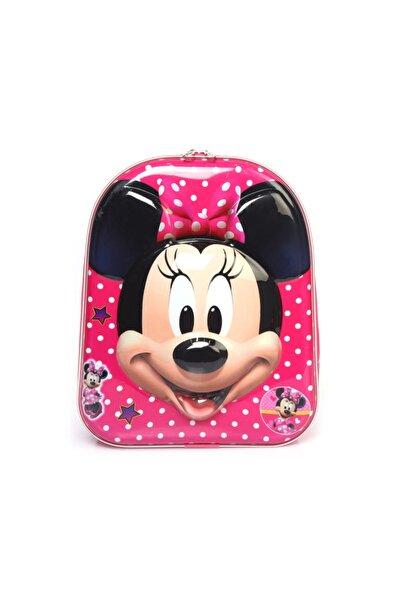 Minnie Mouse 5d Kabartmalı Anaokulu Kreş Ve Günlük Kullanım Çantası Sırt Çantası