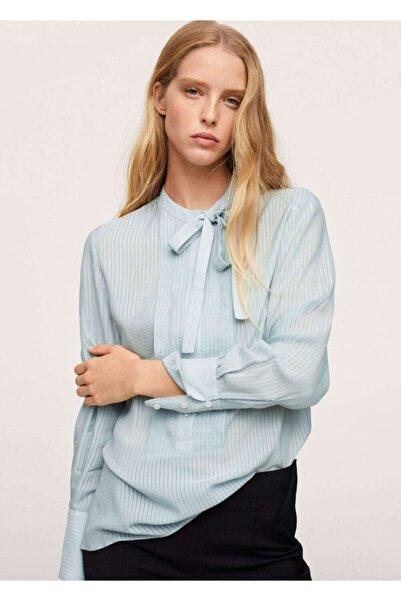 MANGO Woman Kravat Yakalı Bluz