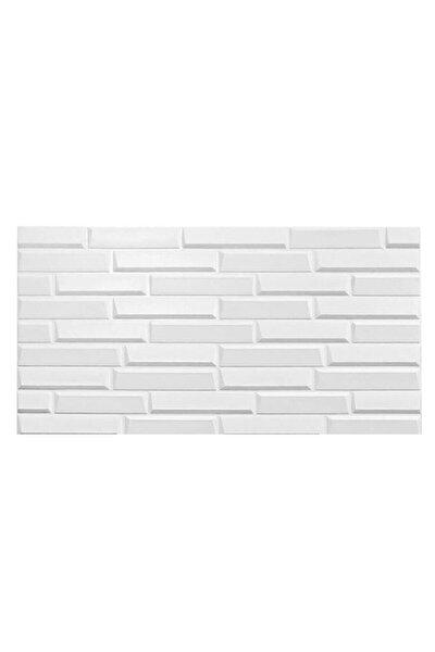 Renkli Duvarlar Kendinden Yapışkanlı Beyaz Opak Duvar Paneli 70x38 cm