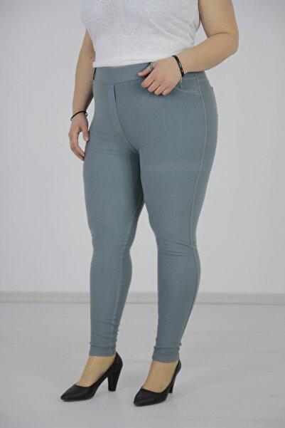 Truva XXL Büyük Beden Kadın Giyim Pantolon Görümlü Tayt