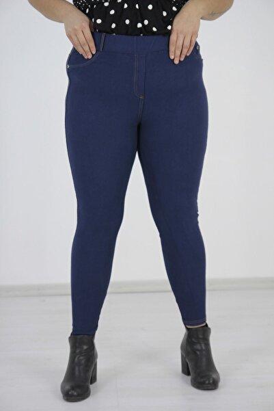 Truva XXL Büyük Beden Kadın Giyim Kot Görünümlü Tayt
