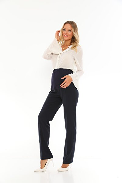 HAVVA ANA Lacivert Hamile Pantalon