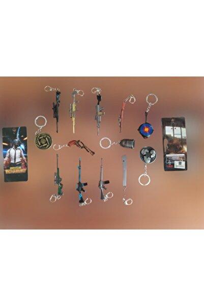 PUBG Aydam Mega Anahtarlık Seti 13 Parça Aksesuar Çanta Süsü Hediyelik