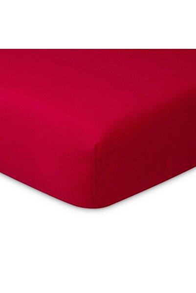 Maki %100 Pamuklu Ranforce Lastikli Çarşaf 160x200 (32 Cm Derin Flaplı) , Kırmızı