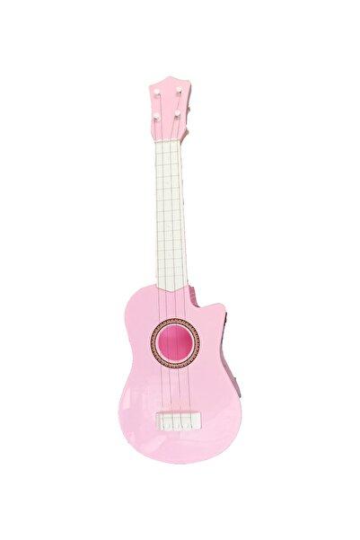PopŞeker Minik Müzisyenler Için Eğlenceli Pembe Gitar 60cm.