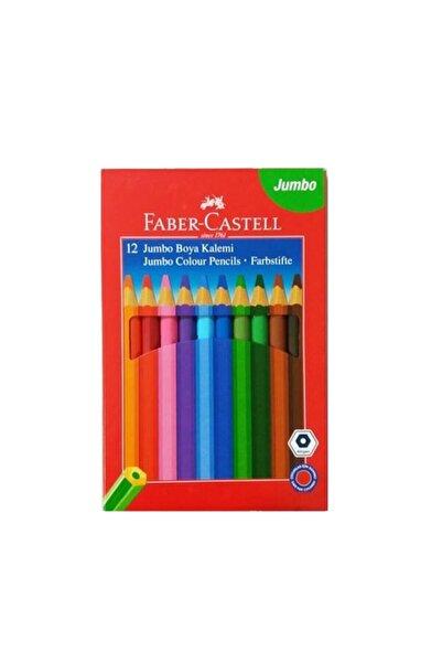 Faber Castell Jumbo Kuru Boya 12 Renk Köşeli