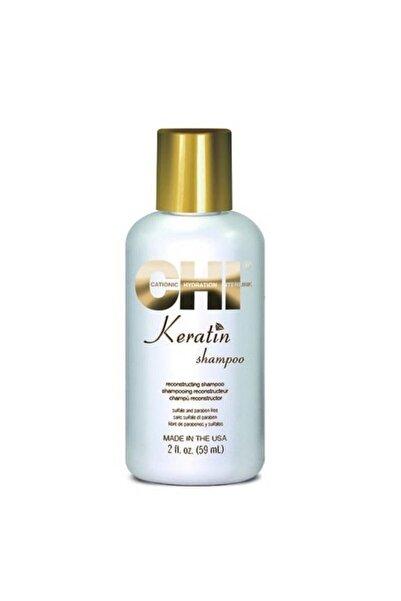 Chi Keratin Yıpranmış Zayıf Saçlar İçin Onarıcı Sülfatsız Şampuan 59 ml
