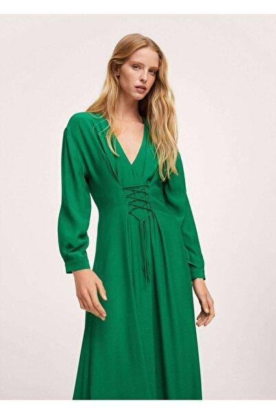 MANGO Woman Kadın Yeşil Elbise