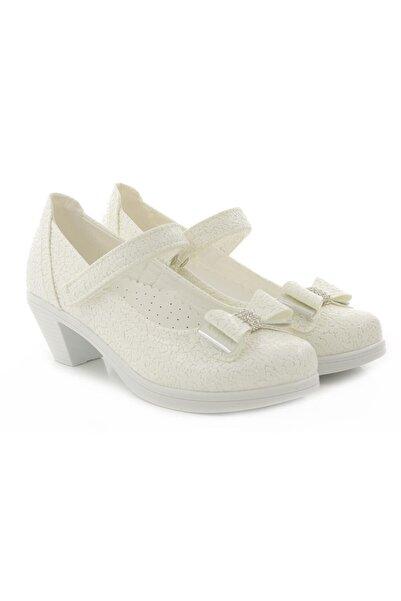 Kid's World Kız Çocuk Beyaz Topuklu Ayakkabı 3320