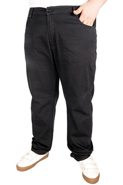 ModeXL Büyük Beden Erkek Pantolon Kot 5cep Thin Focus 21921 Siyah