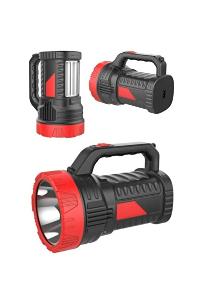 TIGER POWER Style Projektör 15w Led Şarjlı El Feneri Ve X2 Tüp 26smd Led Çift Yönlü Masa Lambası Ypa5s2xc