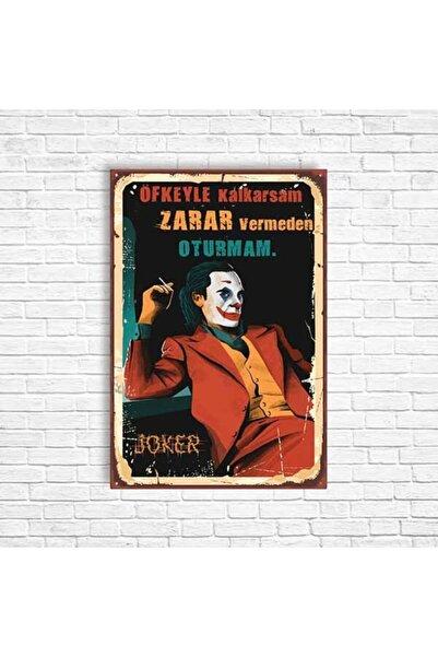 TRENDPOSTER Joker Retro Ahşap Poster