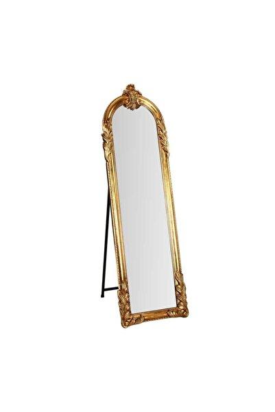 Vitale Gold Işlemeli Boy Aynası 163.5x50x6.5 Cm