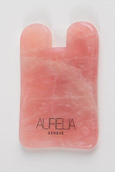 Aurelia Genève Rose Quartz Gua Sha Crystal - Square - Gua Sha Taşı - Pembe Kuvars