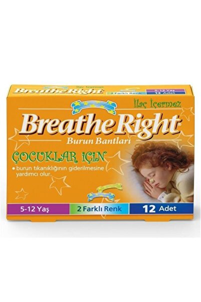 Breathe Right 12'li Çocuklar Için Burun Bandı