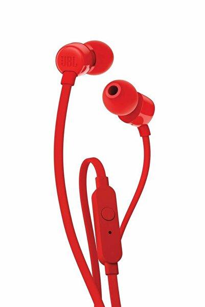 JBL T110 Mikrofonlu Kulak Içi Kulaklık Kırmızı
