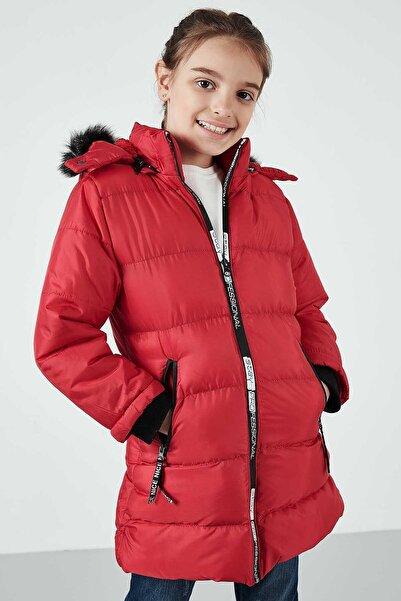 Lela Yakası Suni Kürklü Kapüşonlu Şişme Mont Kız Çocuk MONT 5765020K