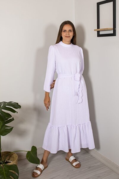 KS COLLECTİON Kadın Beyaz Elbise