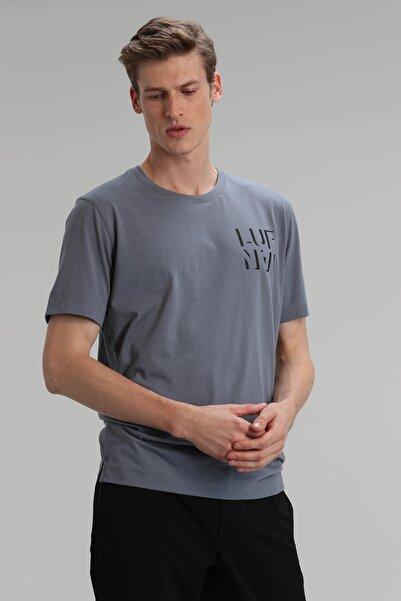 Lufian Larıssa Modern Grafik T- Shirt Gri