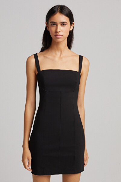 Bershka Kalın Askılı Mini Elbise