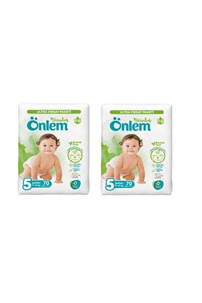 ÖNLEM Botanika Bebek Bezi Ultra Fırsat Paketi Junior 5 Beden 140 Adet (11-18 Kg)