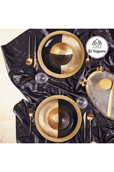 Karaca Natural Black Gold 6 Kişilik 12 Parça Cam Yemek Takımı