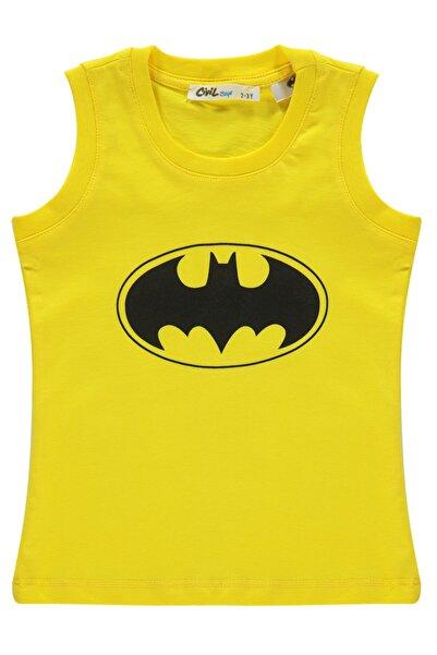 Batman Erkek Çocuk Tişört 2-5 Yaş Sarı