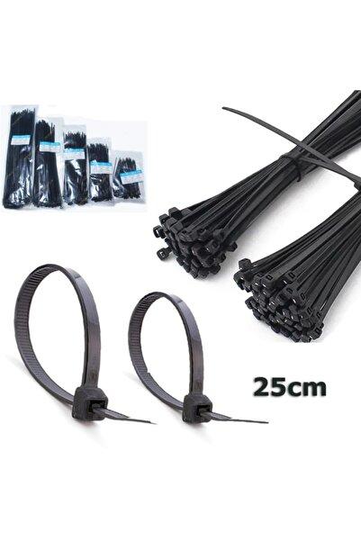 WOZLO 3.6*250mm - Siyah - 25cm Kablo Bağı - Cırt Kelepçe