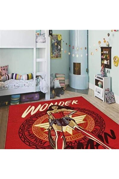 Dolce Vita Halı Bambino 127 Wonder Woman Antialerjik Kaymaz Taban Çocuk Halısı