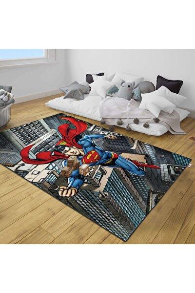 Dolce Vita Halı Bambino 123 Superman Antialerjik Kaymaz Taban Çocuk Halısı