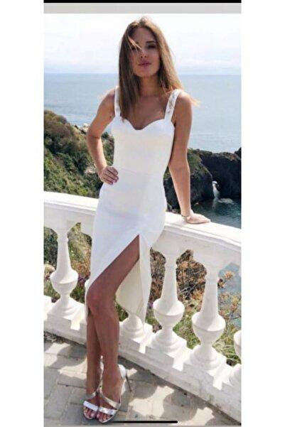 Zoom Yırtmaçlı Elbise