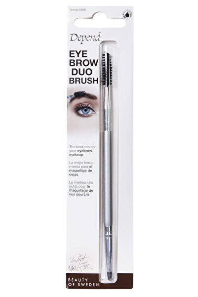Depend Iki Yönlü Kaş Tarama Fırçası Eyebrow Duo Brush - 4956