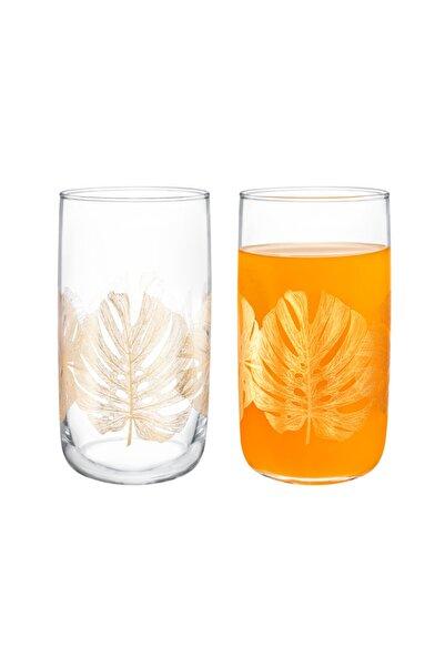 Madame Coco Musette-Golden Leaves 4'lü Meşrubat Bardağı Seti - 365 ml