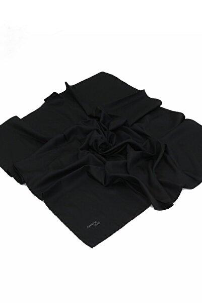 Armine Twill Eşarp - Düz Renk - Siyah
