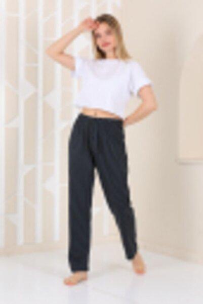 Arvin Kadın Siyah Çizgili Pijama Altı
