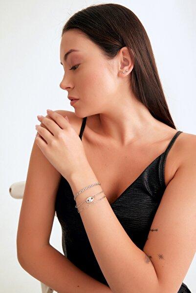 Fulla Moda 3 Lü Düğme Figürlü Zincir Bileklik