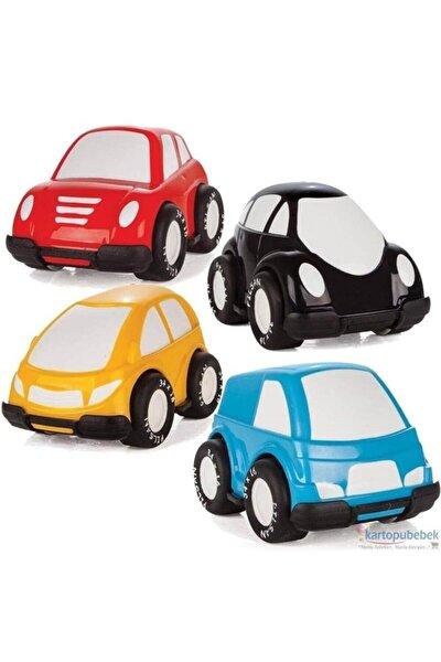 PİLSAN 4'lü Kırılmaz Oyuncak Mini Arabalar