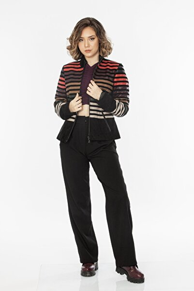 Loris 5 Renkli Kadın Deri Ceket