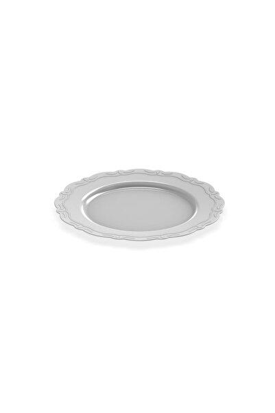 BERGAMA PLASTİK 17,5 Cm Lüks Plastik Gri Tabak (10 Adet)