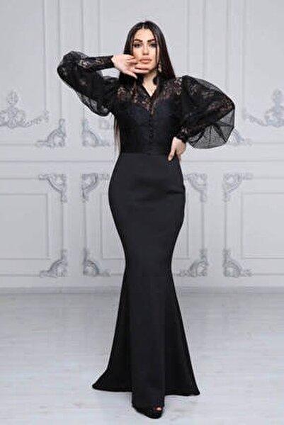 Üstü Likralı Dantel Altı Scuba Elbise