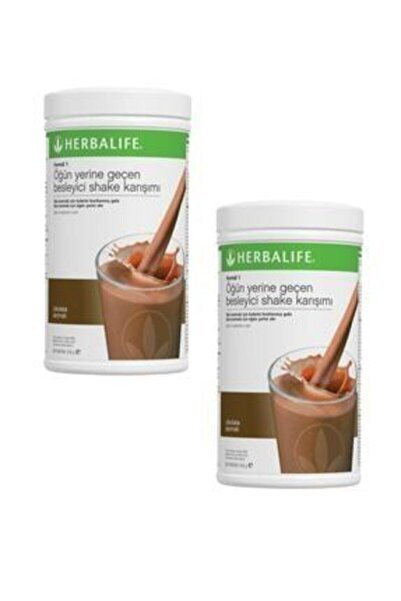 Herbalife Formül 1 Shake Karışım Seti 2 Adet Çikolata 550 gr