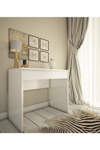 Bicabin Arya Miranda Mode Aynalı Beyaz Makyaj Masası/make Up Desk