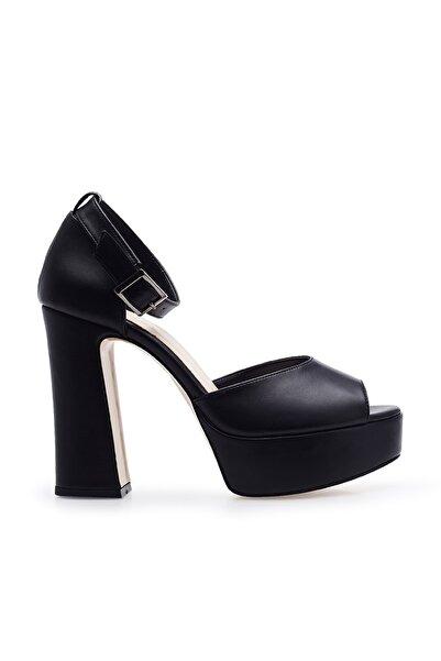 Lela Bilekten Bağlama Detaylı Topuklu Abiye Ayakkabı Kadın AYAKKABI 3475302