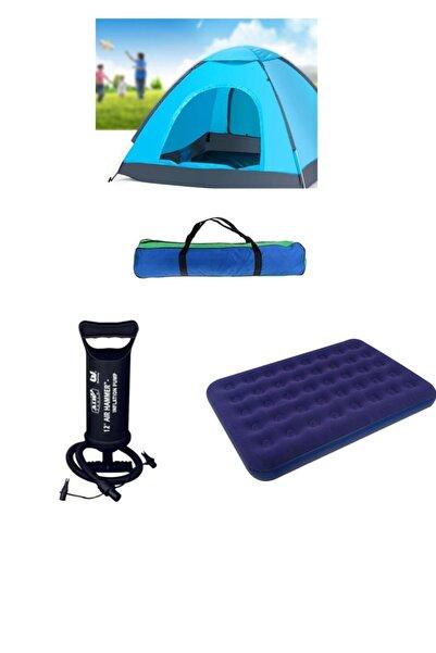 Oranj Life Kamp Çadırı Seti - 6 Kişilik Çadır + Şişme Yatak + Hava Pompası