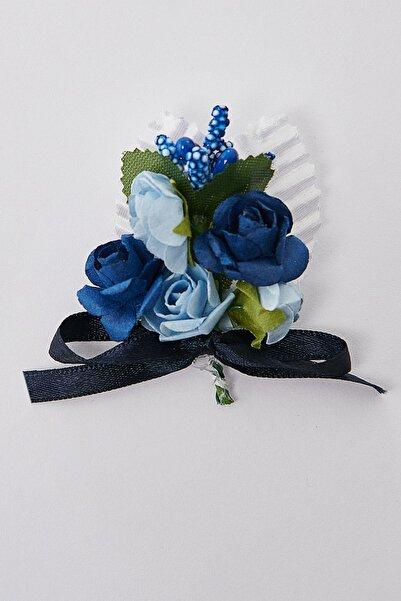 ALTINYILDIZ CLASSICS Erkek Beyaz-lacivert Yaka Çiçeği