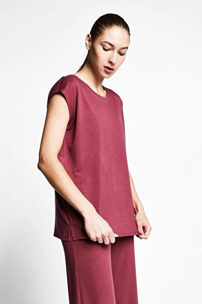 Lescon Vişne Kadın Kısa Kollu T-shirt 21b-2023